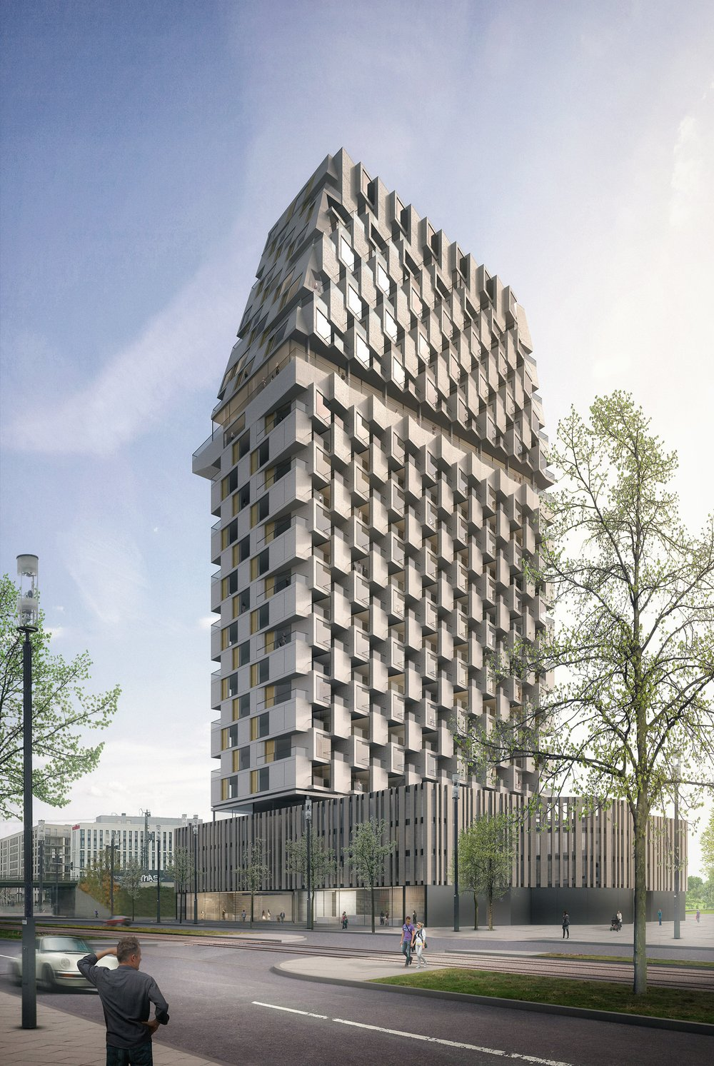 PORSCHE DESIGN TOWER, Neubau